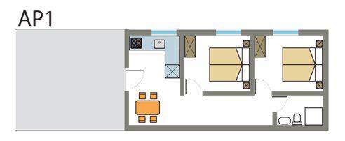 Tloris apartmaja št. 1
