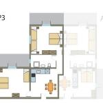 Tloris apartmaja št. 3