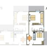 Tloris apartmaja št. 4