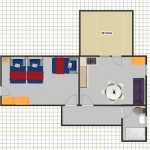 floor plan of the apartment 6