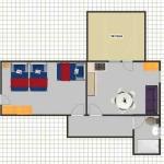 planimetria dell'appartamento 6